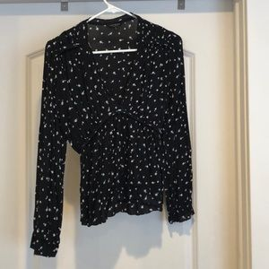 Cute floral lucky brand top
